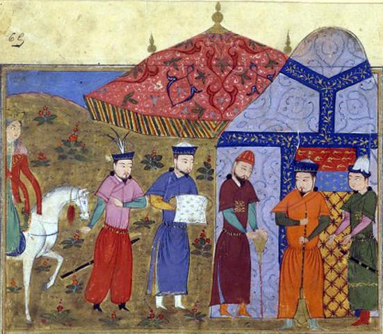 o mercador faz uma proposta ao cavaleiro de ficar em Vezena para ele ver as suas maravilhas, e o cavaleiro aceita a sua proposta.
