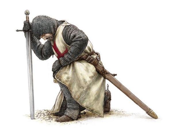a meio do caminho, perto de Florença, o cavaleiro ficou doente.