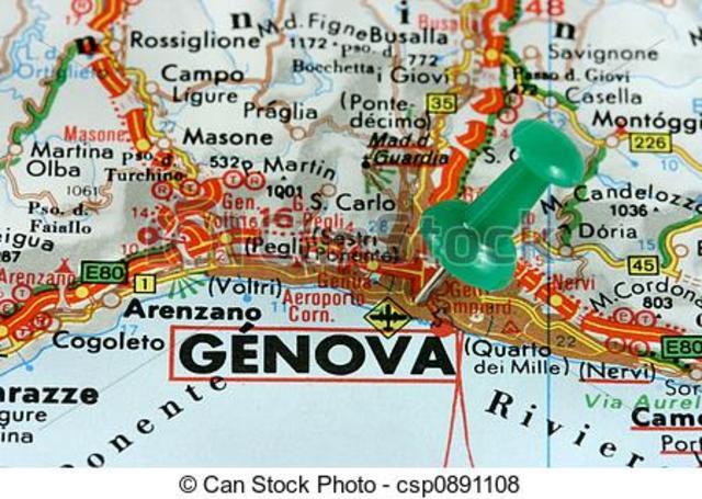 o cavaleiro dirige-se para Génova.