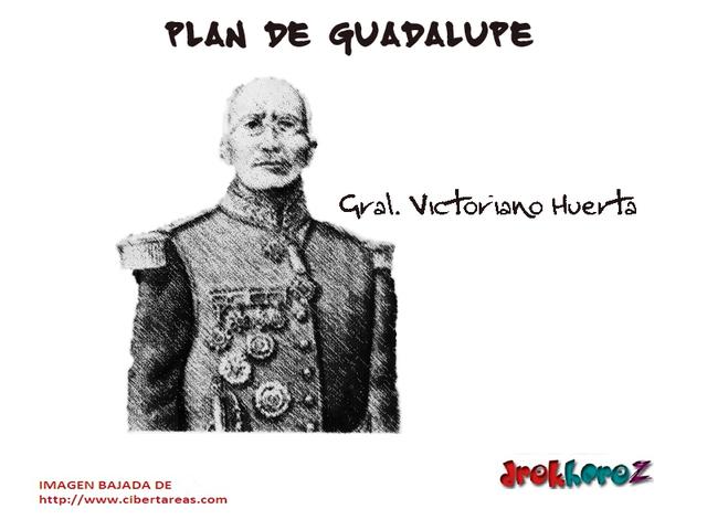 Carranza lanza plan de Guadalupe