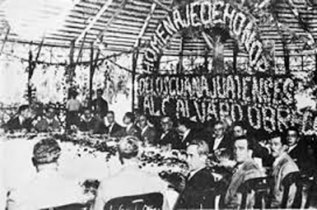 Álvaro Obregón toma Guadalajara.