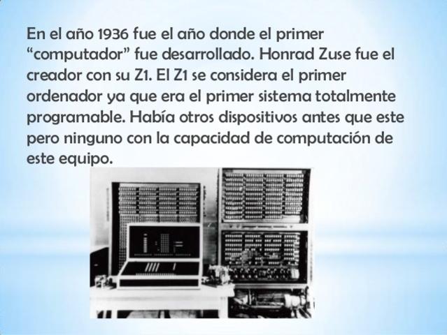 Primer ordenador, Z1