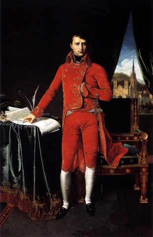 Napoleon - by an overwhelming vote from the people - is made the first consul
