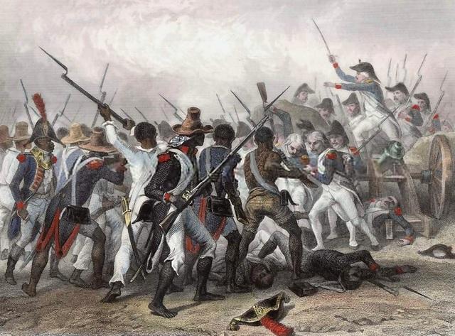 Napoleon attmepts to take ack Saint Domingue from the slave revolt, but fails