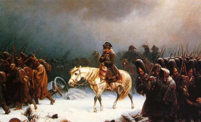 Napoleon makes the grave mistake of attmepting to attack Russia in the winter