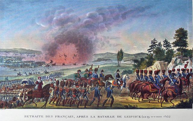 Austria declares war on France; many of the large powers of Europe take advantage of France's weakness and attack Napoleon