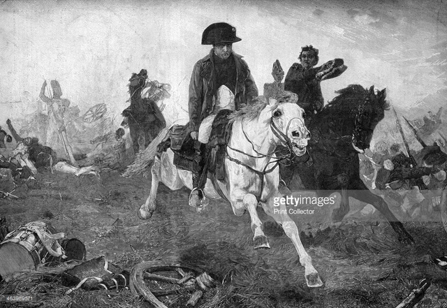 Napoleon attacks, beginning the Battle at Waterloo, and later on in the day, the British and and the Prussians defeat Napoleon