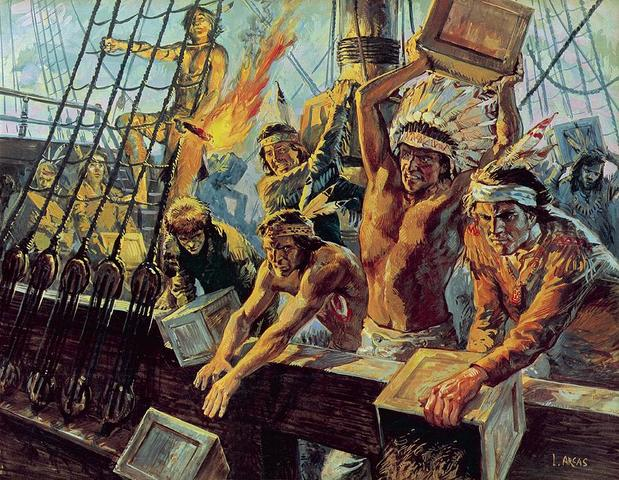 Colonists throw all their tea imported from England into teh harbor
