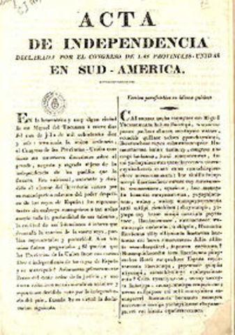 Argentina declares its independence