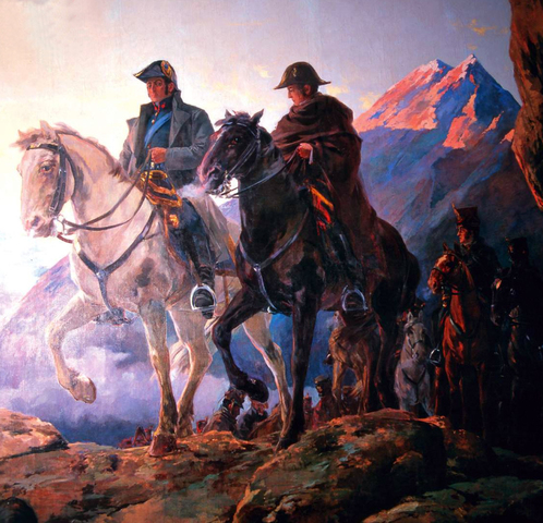 Jose de San Martin leads an army on a march across the Andes to Chile