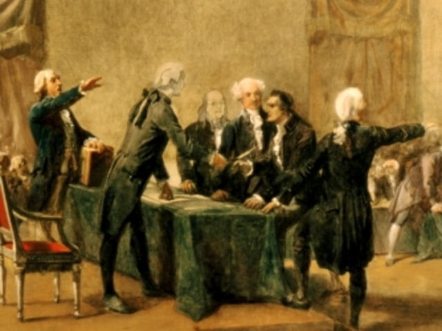 Representatives from most colonies gather to form the First Continental Congress