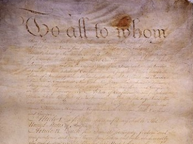 The Americans create the Articles of Confederation