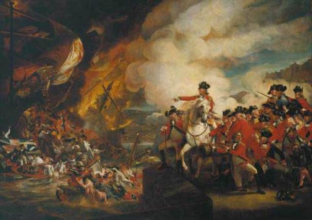 The British and colonists fight the first battle of the American Revolution