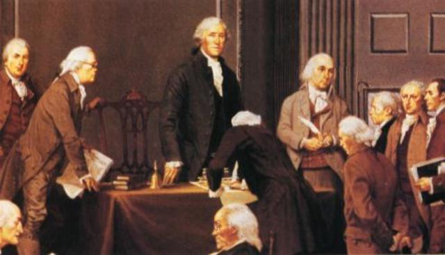 The delegates of the Constitutional Convention signed the new Constitution