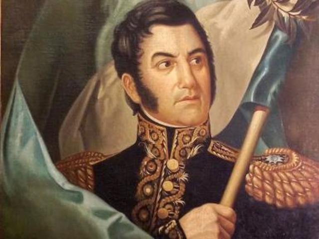 Jose de San Martin plans to drive the remaining Spanish forces out of Lima, Peru