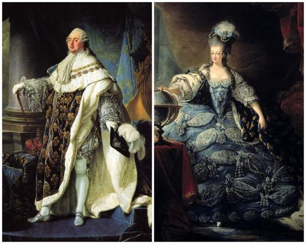 Bankers refuse to lend money to the gevernment and Louis XVI and Marie Antoinette