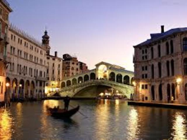 A partida para Veneza