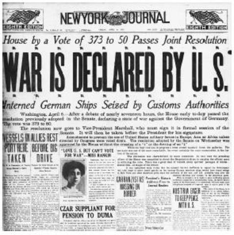U.S. Enters WW1