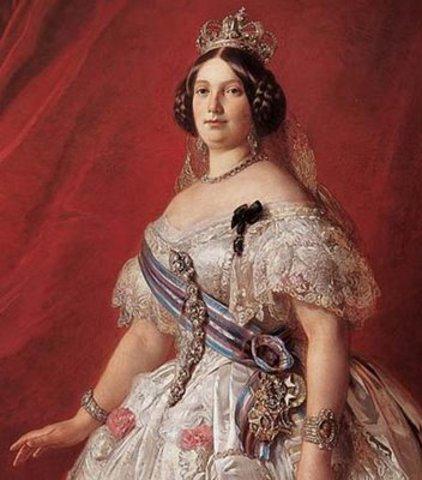 Comienzo del reinado efectivo de Isabel II.