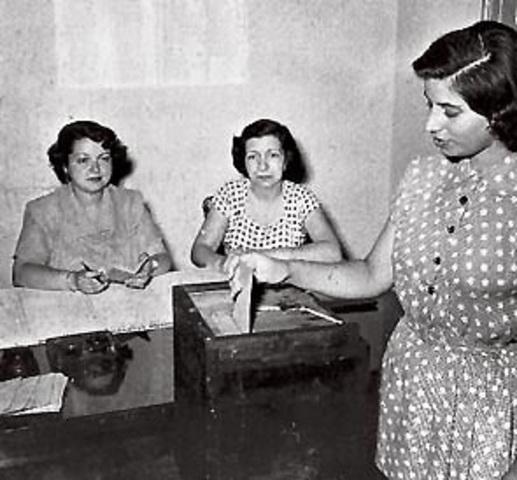 Voto femenino.