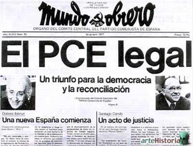 El Partido Comunista de España vuelve a ser legal.