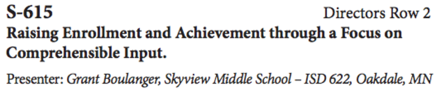 Raising Enrollment and Achievement through a Focus on Comprehensible Input