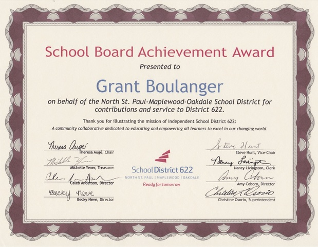 Achievement Award - District 622