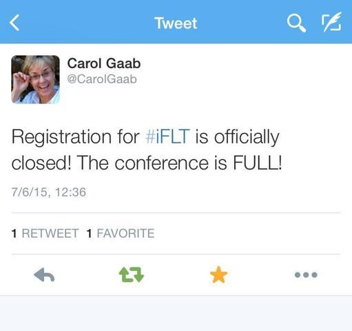 #iFLT15 Registration is FULL