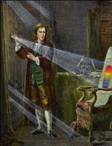 Isaac Newtons discovery about white light