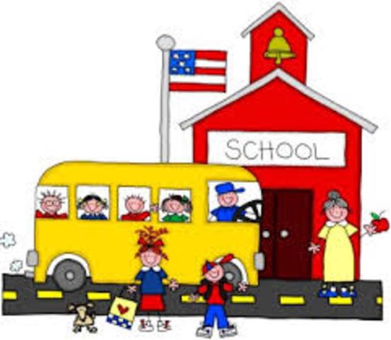 Andrea starts school
