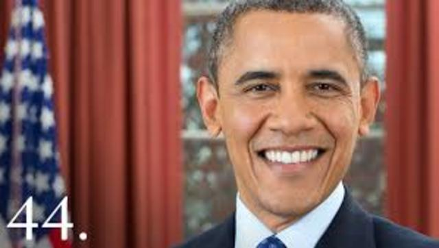 Barack Obama becomes President of the United States of America