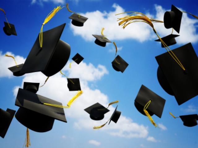 Andrea graduates high school
