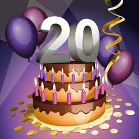 Andrea Mitchel celebrates her 20th birthday