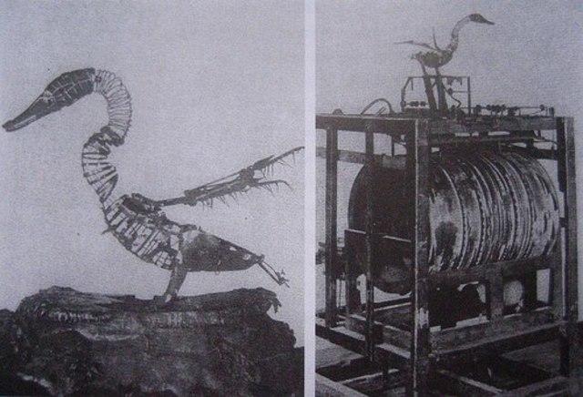 Механический барабанщик и утки