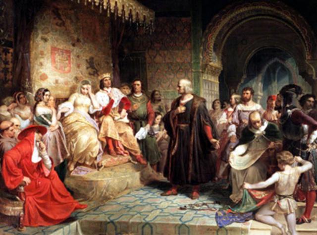 Los Reyes Católicos aprueban el plan de Colón