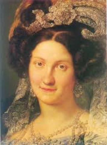 Comienzo de la regencia de María Cristina.