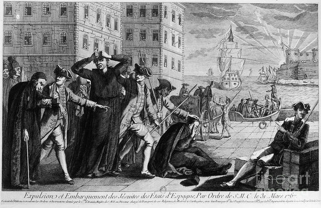 Jesuits expelled by the Bourbons