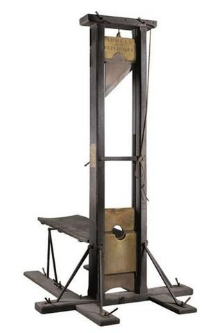 Guillotine adopted as official means of execution.
