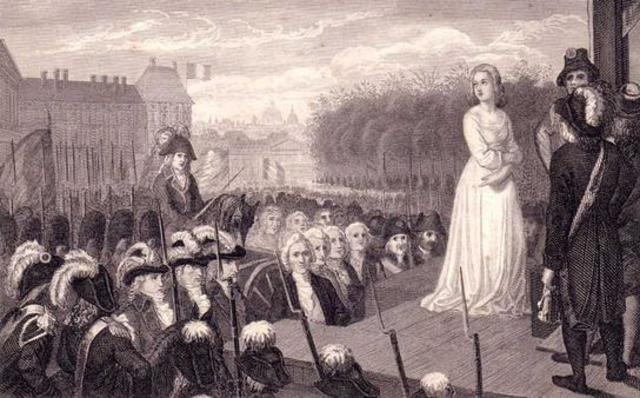 Marie Antoinette guillotined.