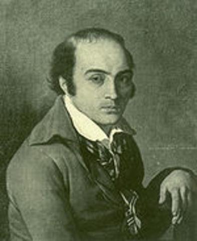 André Chenier, poet, guillotined for conspiring against the Revolution.