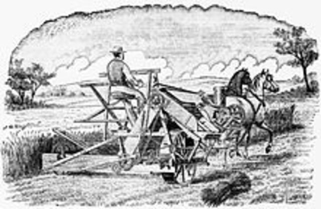 Cyrus McCormick invention the reaper boosts American wheat production