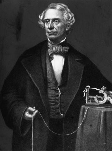 Samuel F.B. Morse sends first electric signals over telegraph