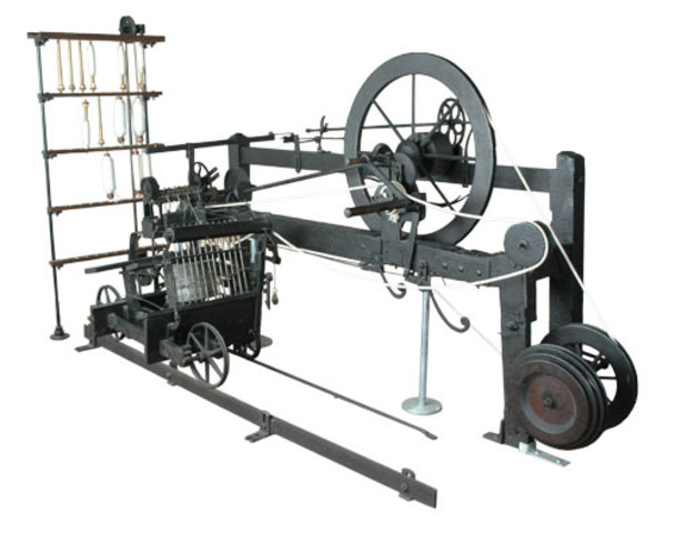 Samuel Crompton combines the spinning jenny and the water frame to create the spinning mule