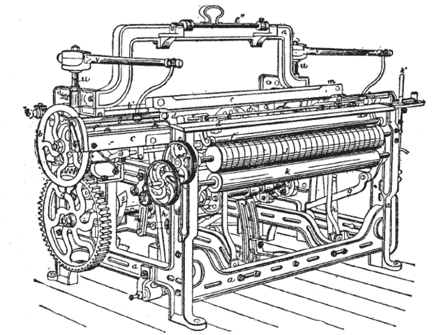 Edwards Cartwright invents the power loom