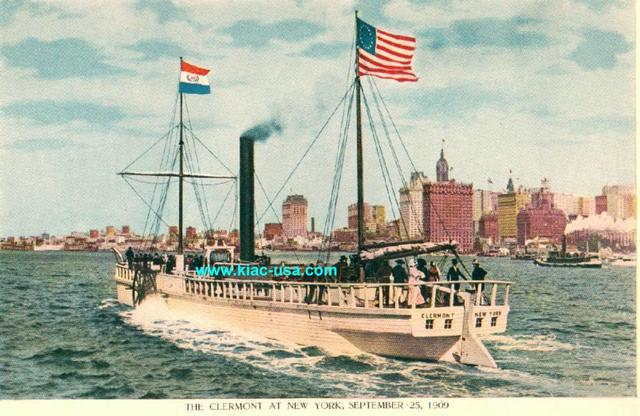 The steamboat Clermont made its first successful trip