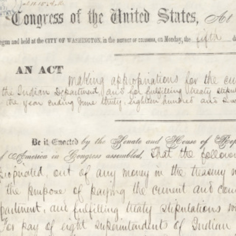 Indian Appropriations Act