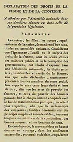 Declaration of the Rights of Woman and the Female Citizen (Social)