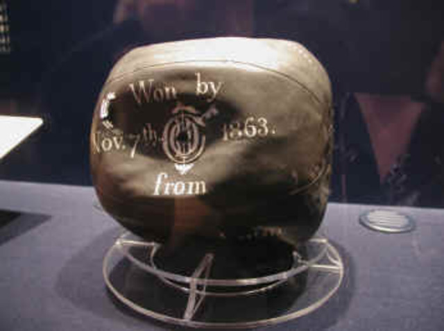 The first ever football was made