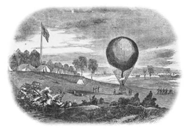 June 18, 1861 there was a strange shape in the sky in Washington.