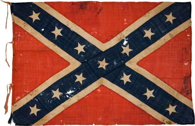 Lincoln would stand in the White House and see the Conferate Flag flying through the air